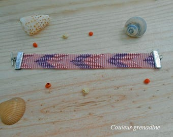 Bracelet weaved in seed beads miyuki