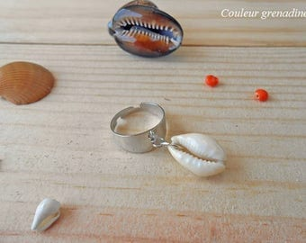 Ring charm shell, gift idea mother grandmother, Easter