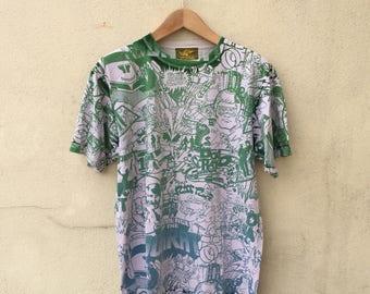 Doarat Japan Streetwear Allover Print Tshirt
