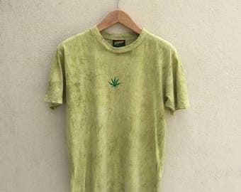 Vintage Ganja Embroidered Logo Tshirt