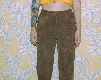 Leather (suede) brown pants