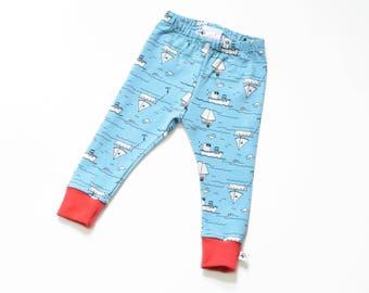 Organic Leggings: Organic Baby Leggings, Toddler Leggings, Boy Leggings, Cute Baby Girl, Boho Baby, Hipster Baby, Nautical