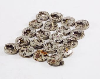 Small watch round watch movement watch parts Industrial Jewellery steampunk parts gears and cogs watch jewelry making vintage components