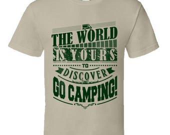 Funny camping t shirt,Camping Shirt, Camping Tshirt,Camping Gift,Camping Gear,Camping Life,bbq t shirt,campfire camping,Go Camping T-Shirt