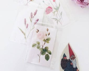 Sale-40% botanical tattoo-Temporary botanical Tattoos-single botanical illustration