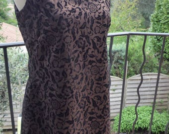 Copper brown short dress black designs