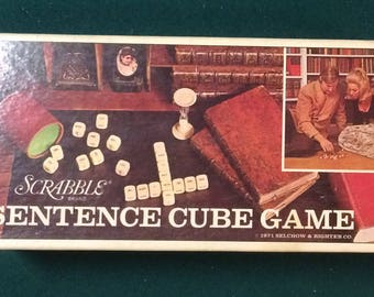 1971 Scrabble Brand Sentence Cube Game.  (Complete game in original box)