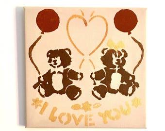 Little bear Brown, acrylic painting.