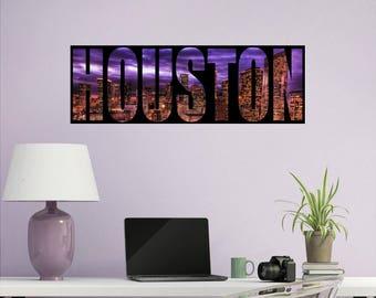 Houston Wall Decal Etsy - Custom vinyl decals houston tx