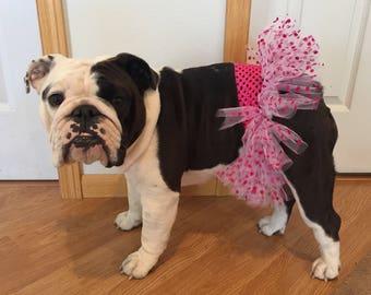 Fuchsia & Polka Dot Tutu For Dogs/Pet Tutu/Tutu For Pets/Tutu For Dogs