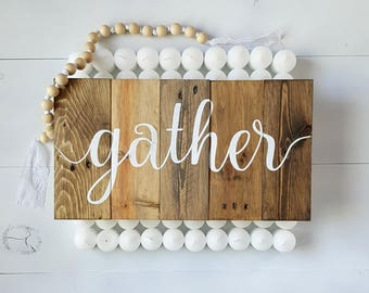 Pallet Gather Sign