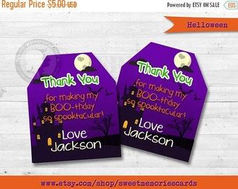 ON SALE Halloween Favor Tags, Hallowen Birthday Party, Kids Halloween Party, Halloween Gift Tags, Halloween favors, Halloween Gift Ideas