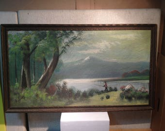 Antique Oil on Board, Signed