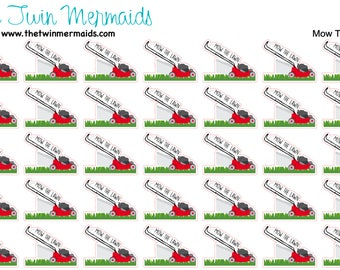 Mow The Lawn Planner Stickers