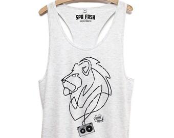 Lion art - shirt - men