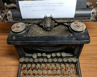 1922 L.C. Smith Model 3 Standard 14 Inch Carriage Typewriter With Double  Gothic Font   Working