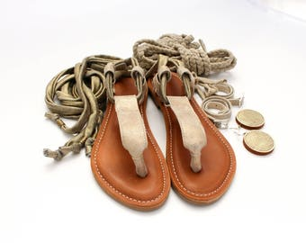Unique summer sandals, comfortable but incredibly feminine with elastic laces