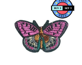 Sweet Butterfly Insect Embroidered Iron On Patch Heat Seal Applique Sew On Patches