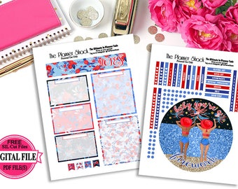 Baby You're A Firework Notes Page // Erin Condren // Notes Page // Printable Planner Stickers // Planner Printables // 4th Of July