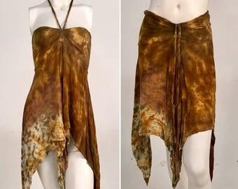 Convertible Top/Skirt - Brown Town - Size Medium
