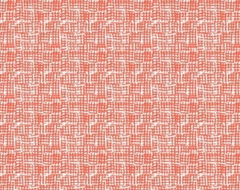 Dear Stella's  100% cottonquilting fabric is the ever popular netting print in color marmalade