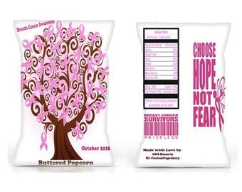 Chip Bag Template Breast Cancer Popcorn Bag