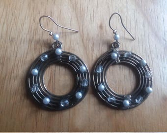 Spiral Round Circle Earrings