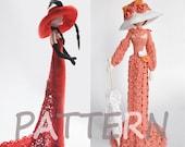 Crochet doll PATTERN, PDF Amigurumi Pattern, gift idea for girl and mom
