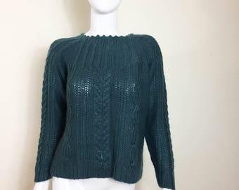 Dark green sweater | Etsy