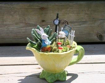 Fairy garden kit etsy for Alice in wonderland fairy garden