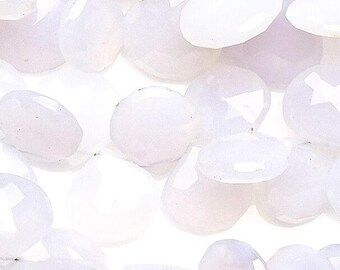Chalcedony: White color - Heart shaped - Natural Gemstone