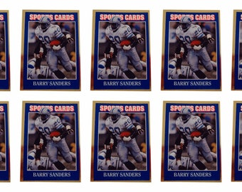 10 - 1992 Sports Cards #48 Barry Sanders Football Card Lot Detroit Lions