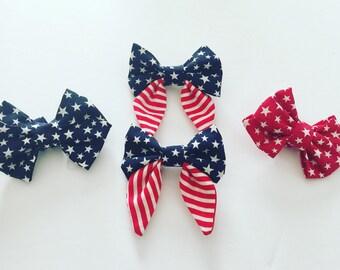 Patriotic Sailor Bow