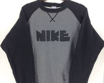 Vintage 70's Nike Block Rare Sport Classic Design Skate Sweat Shirt Sweater Varsity Jacket Size XL #A820
