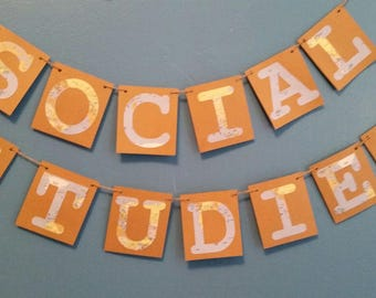 Social Studies Banner - Back to School