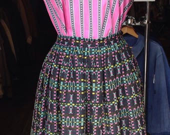 1950s black woven skirt