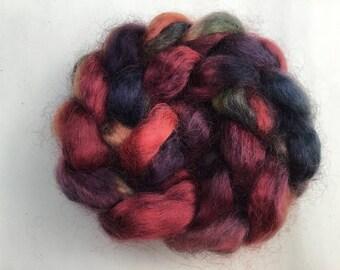 Hand Dyed Wensleydale wool tops