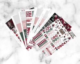 Into the Red Woods // Epic Weekly Planner Kit (250+ Planner Stickers)