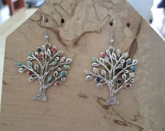 Earrings whimsy tree beads