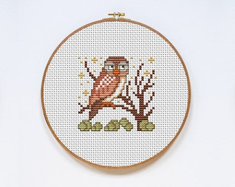 Owl Unique Counted Cross Stitch Pattern PDF