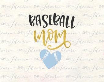 Baseball Mom Svg,  baseball svg, baseball shirt svg, Svg File baseball, svg baseball, baseball cut file, baseball heart svg, baseball dxf