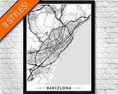 Every Road in Barcelona map art   Printable Barcelona map print, Barcelona print, Barcelona poster, Barcelona art, Barcelona wall art gift