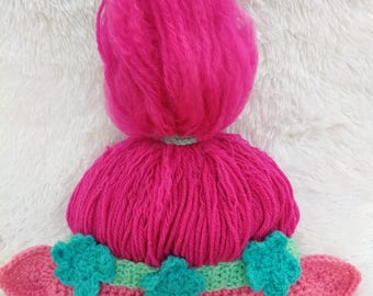Pattern Only!! Poppy Troll Hat