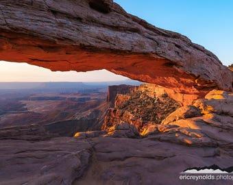 Sunrise at Mesa Arch & Buck Canyon - Canyonlands National Park - Utah