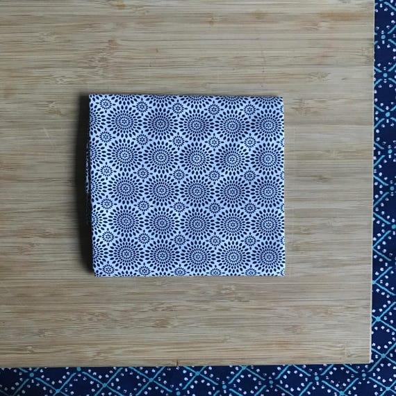 """Premium Cotton Fabric Fat Quarter - Designer Fabric - Quilting Fabric - Fat Quarters 18"""" x 21"""" Blue Starburst Print"""