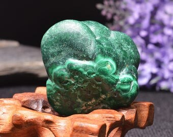 Best Large Polished Green Malachite Stone -Tumbled Stones For Decoration/Pocket Stones/Healing Crystals/Display/Gift-42*35*31mm-93g