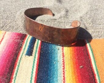 H&H Handmade Hammered Copper Cuff / Copper Bracelet