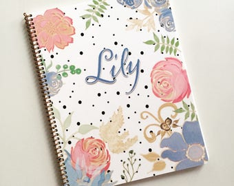 Kid's Mood Journal in Floral Dots