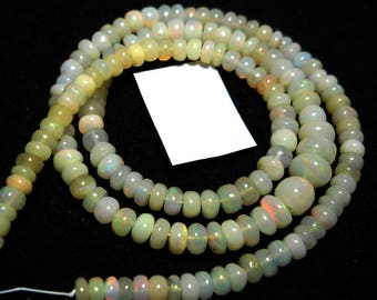 Natural Opal Beads Carat 48.70 opla stone beads 16 inches Opal Stone Beads,Size 5 to 7 mm Gems Opal Beads,PCD 2312