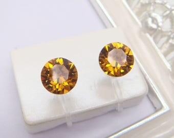 Topaz Swarovski Crystal Invisible clip on earrings,Birthstone,November,Clip On Earrings,non pierced earring,Clip-ons,gift for women